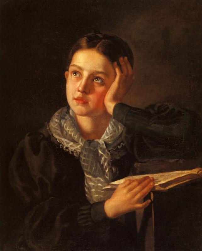 Алексей Васильевич Тыранов. Девушка, опирающаяся на руку