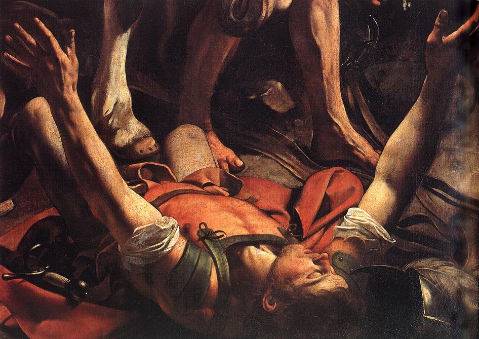 Michelangelo Merisi de Caravaggio. The Appeal Of St. Saul. Fragment