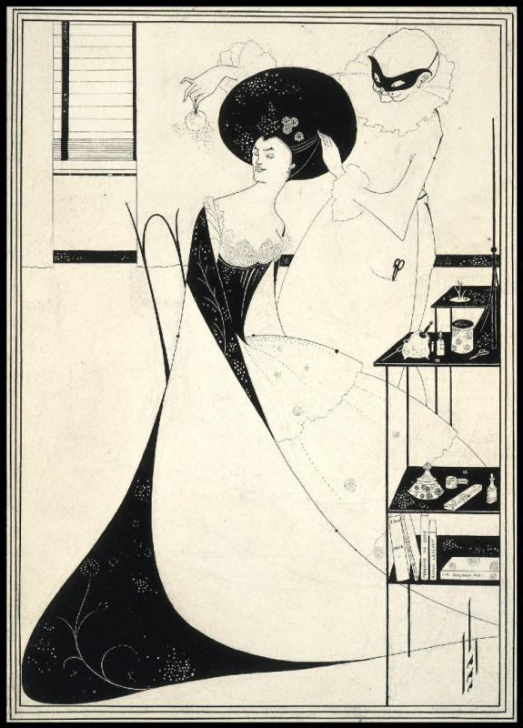 "Aubrey Beardsley. Toilet Salome. Illustration for the tragedy ""Salome"""