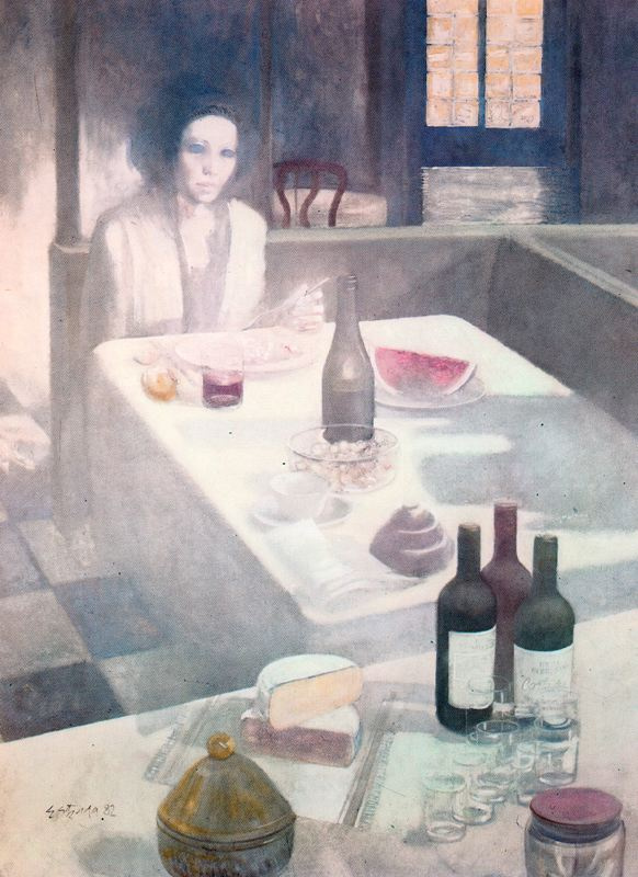 Адольфо Эстрада. За столом