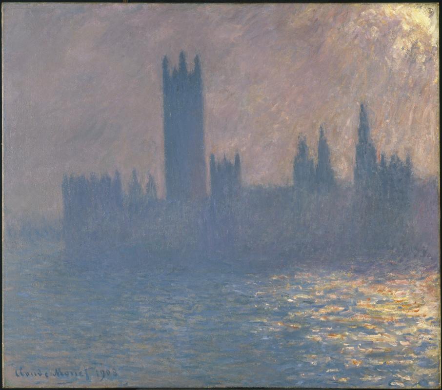 Клод Моне. Вестминстерский дворец, эффект солнечного света