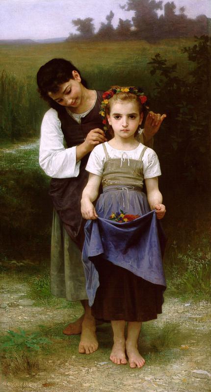 Адольф Вильям Бугро. Венок из цветов