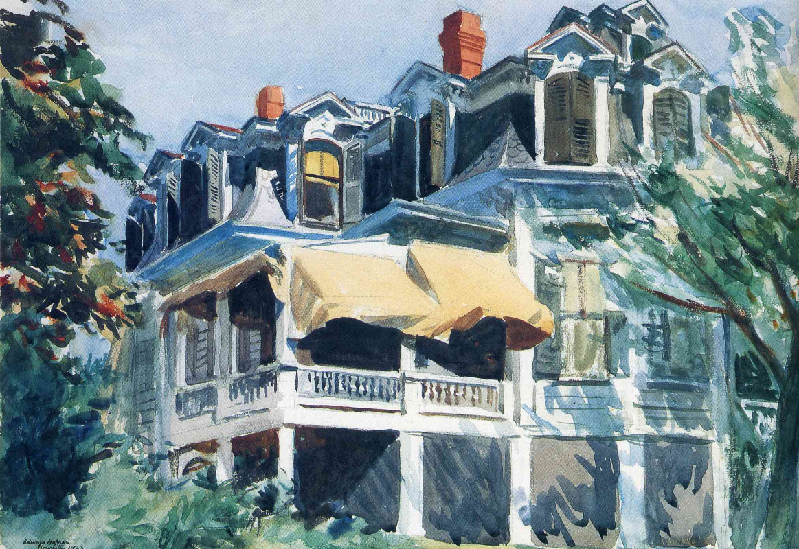 Edward Hopper. The roof of the attic