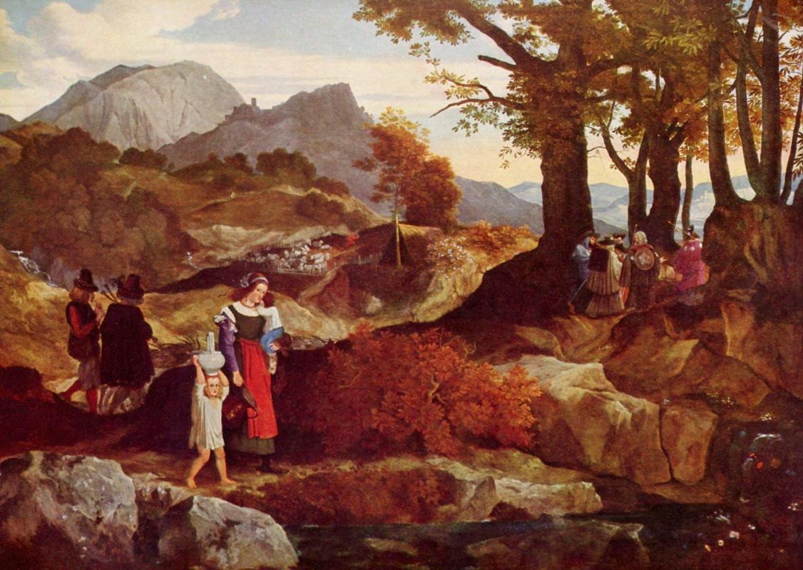 Karl Philippe Fort Wayne. Italian romantic landscape