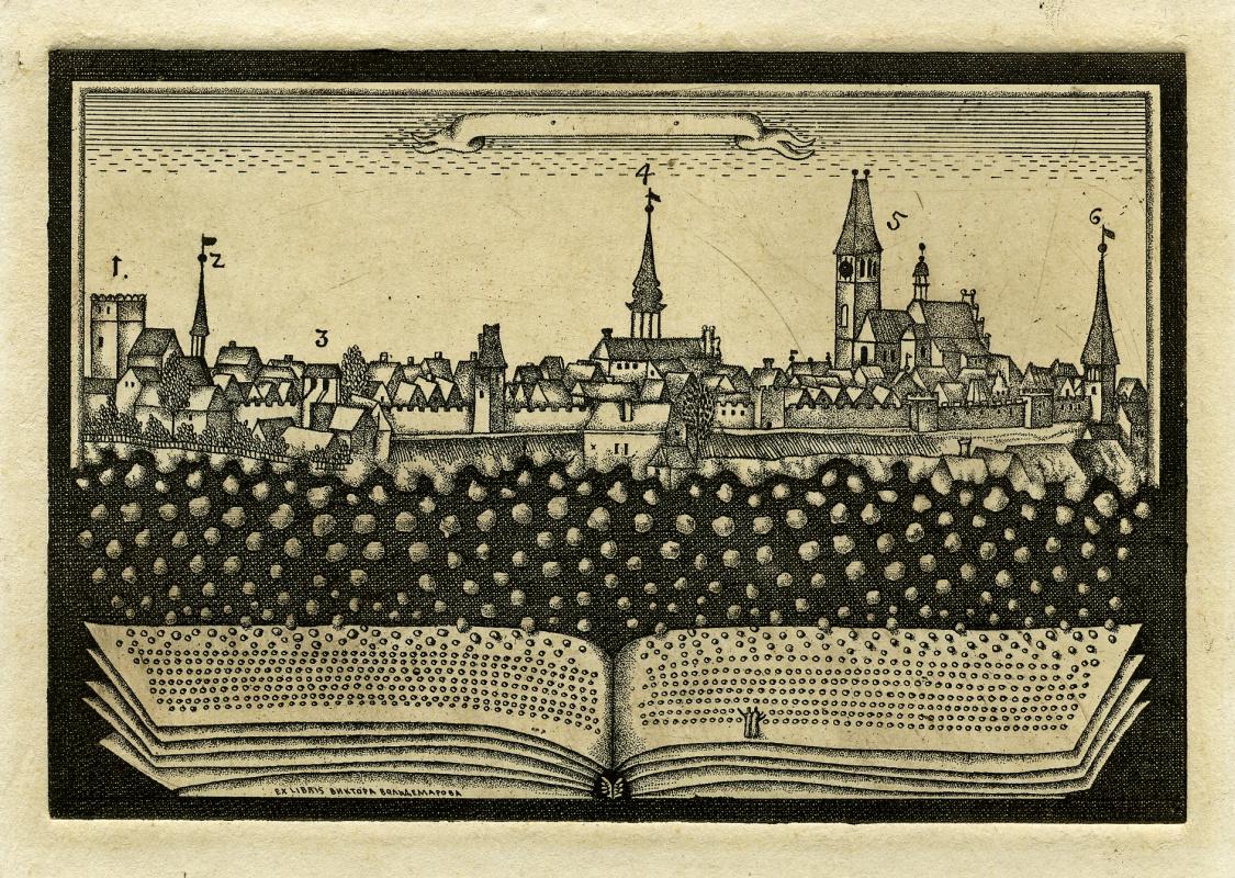 Alexander Dmitrievich Aksinin. Bookplate Of Victor Voldemarovna