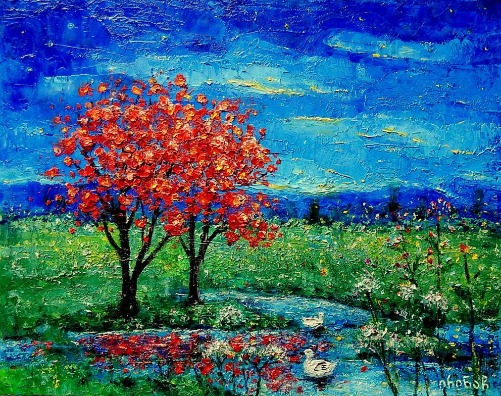 Irina Chitashvili. Red trees