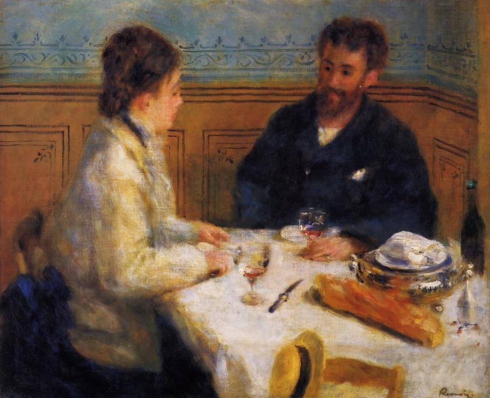Pierre-Auguste Renoir. Breakfast