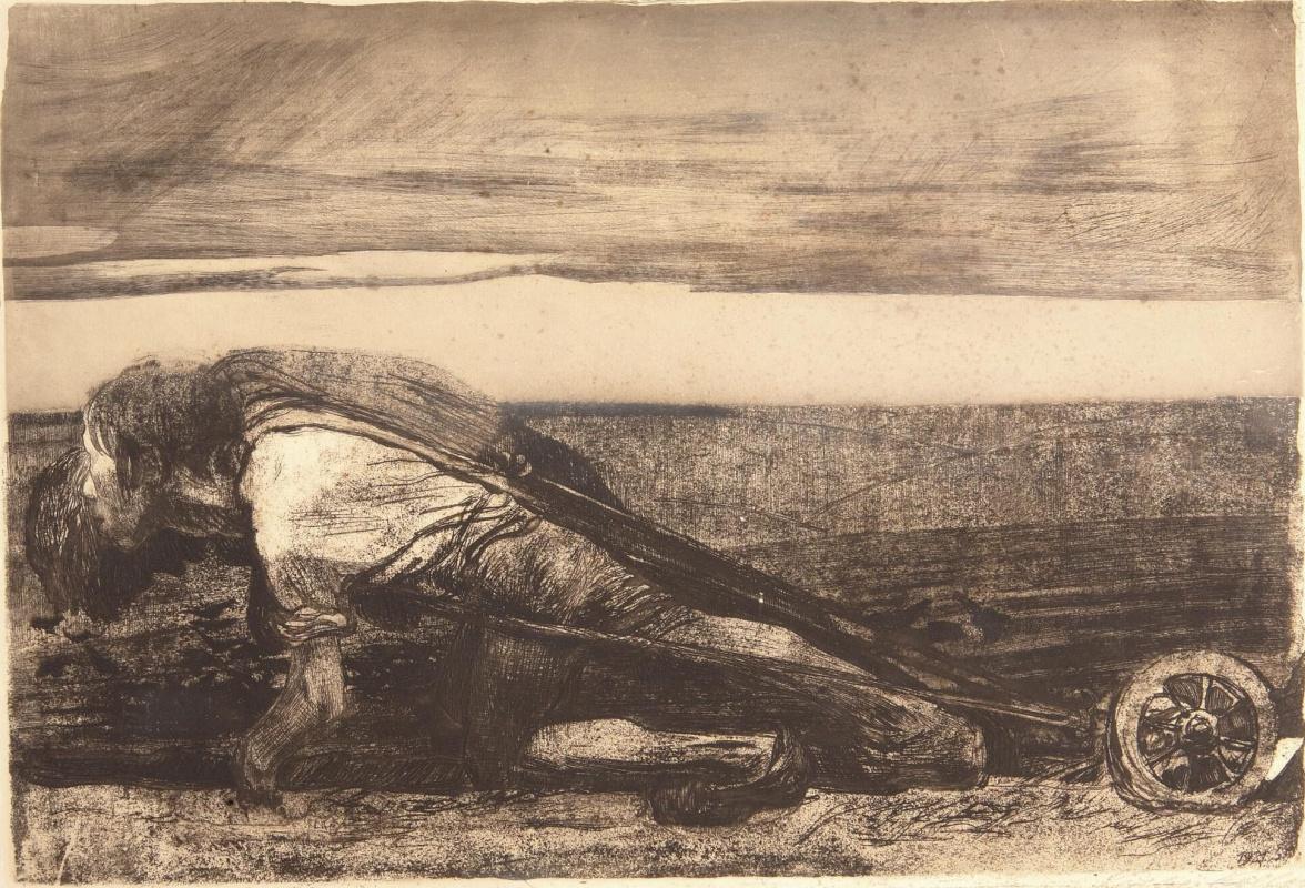 Käthe Kollwitz. Dying on arable land