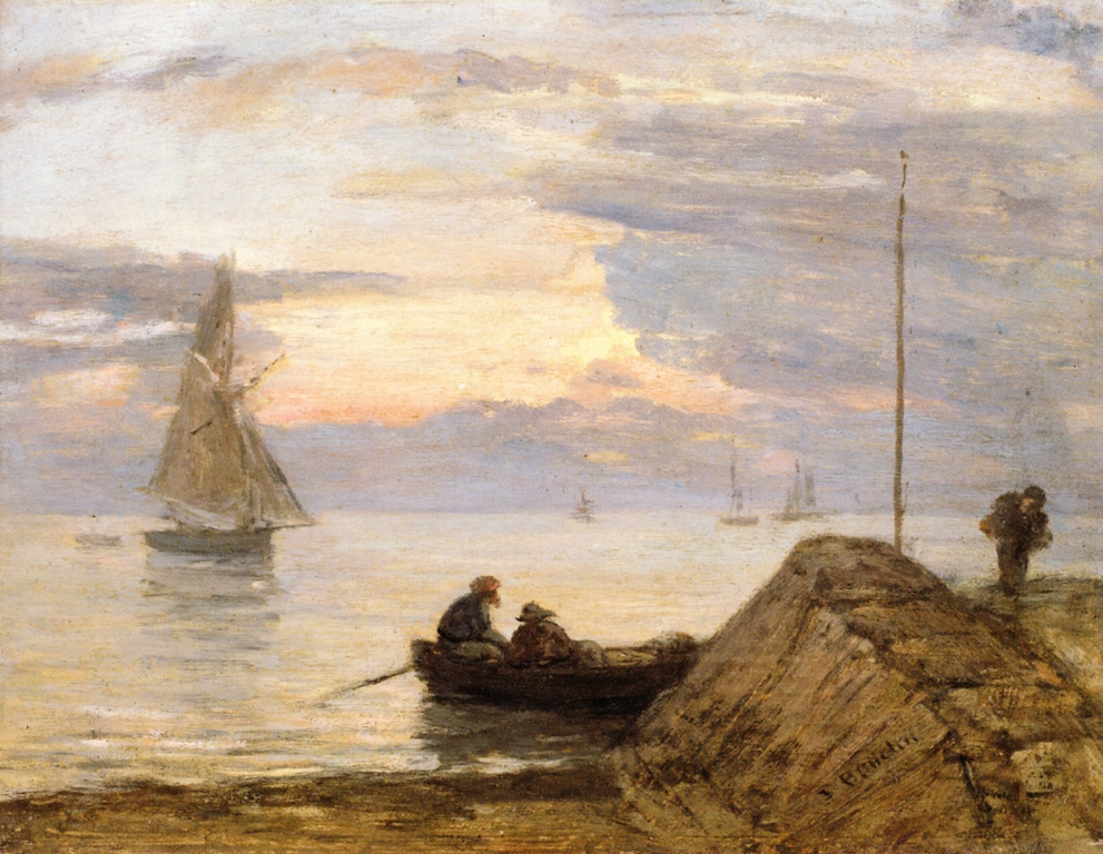 Eugene Boudin. Near The Handle.Shore.Sunset