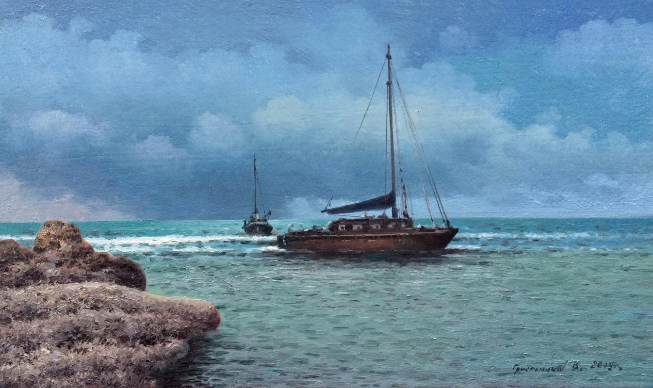 Vasily Ivanovich Gribennikov. Gloomy Sea Morning