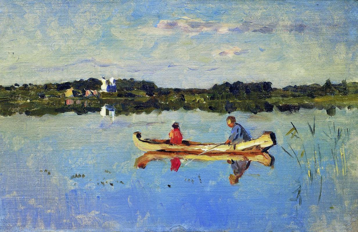 Исаак Ильич Левитан. На озере