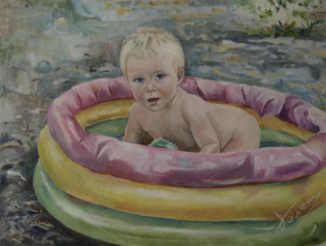 Nataliya Vladimirovna Telesh. Painting from the photo