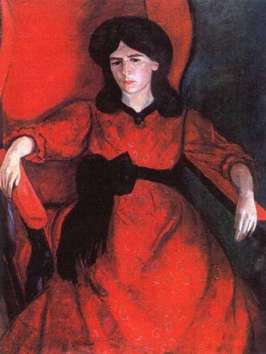 Роберт Рафаилович Фальк. Лиза в кресле. Портрет жены художника