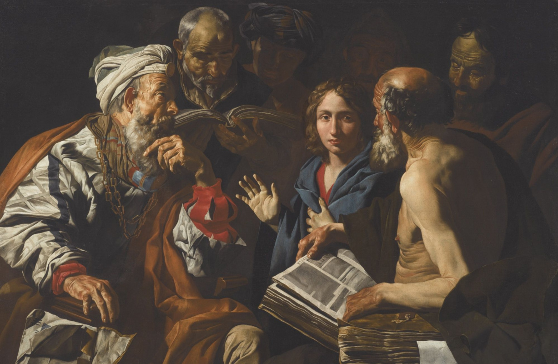 Маттиас Стомер. Христос, дискутирующий с врачами
