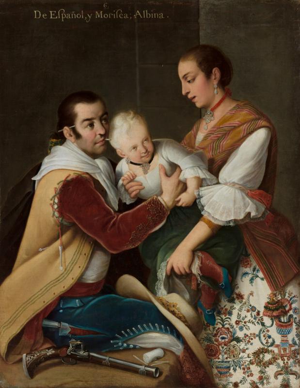 Девочка-альбинос у испанца и мориски