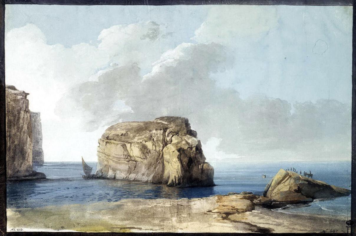 Жан-Пьер-Лоран Уэль. Вид на Грибную скалу
