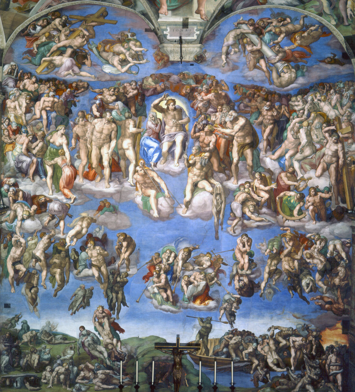 Michelangelo Buonarroti. The last judgment, a General view
