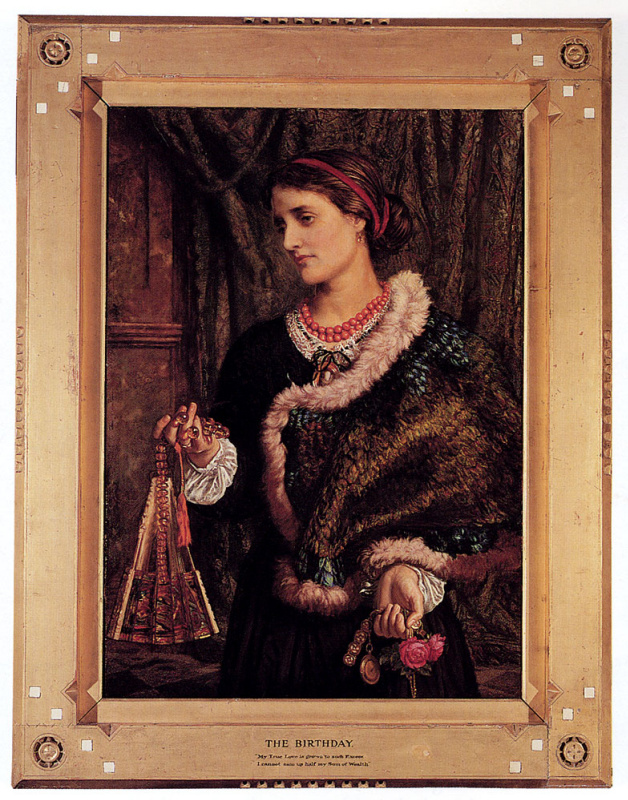 William Holman Hunt. Birthday (in preparation). Portrait of Edith, second wife of the artist