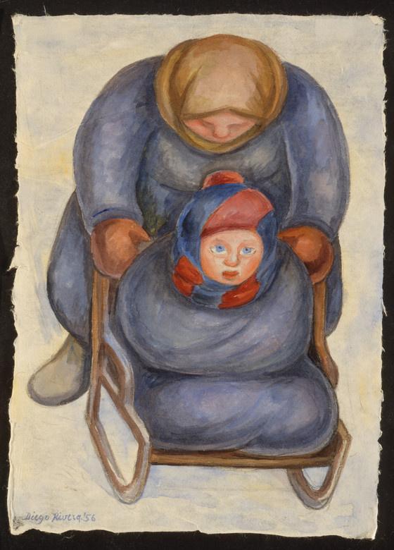 Диего Мария Ривера. Женщина и ребенок. Москва