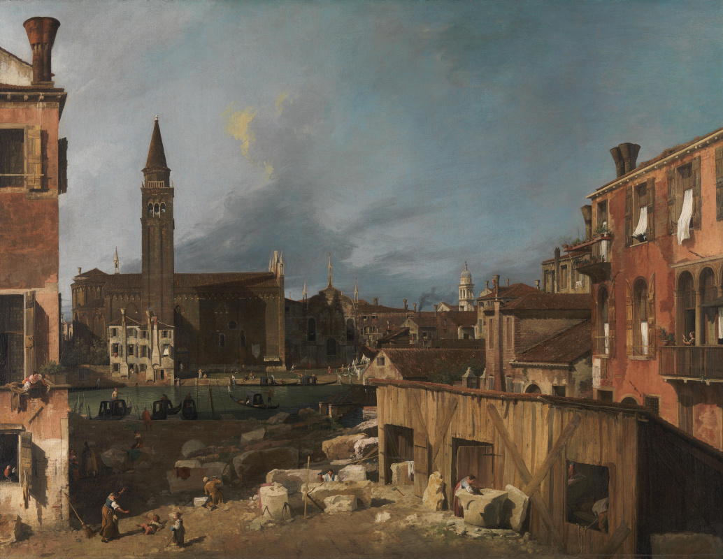 Giovanni Antonio Canal (Canaletto). Mason's yard