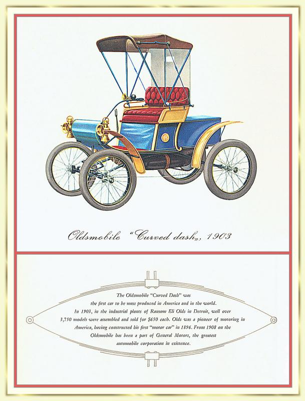 Лионель Моррис. Серия ретро-автомобили. 1903 Олдсмоби́л Кёвд Дэ́ш