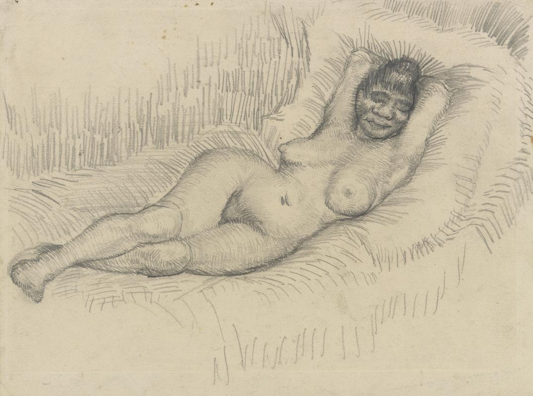 Vincent van Gogh. Reclining Nude. Sketch