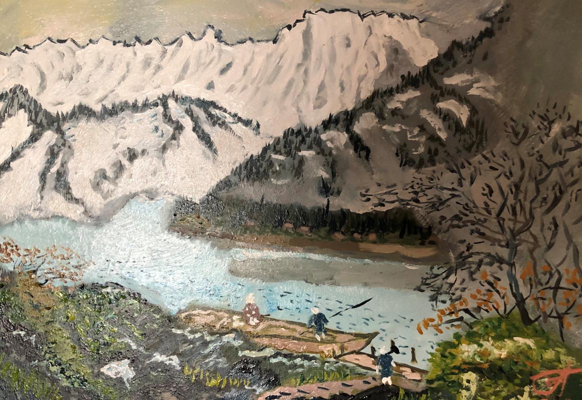 "Sergey Vladimirovich Sebini. Variation on the theme of Keukei Kojima ""Mountain Landscape"""