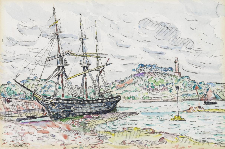 Paul Signac France 1863 - 1935. Pempole 1927, July 8.