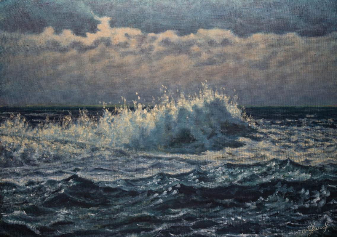 Valery Levchenko. No. 451 Wave in yellow tones