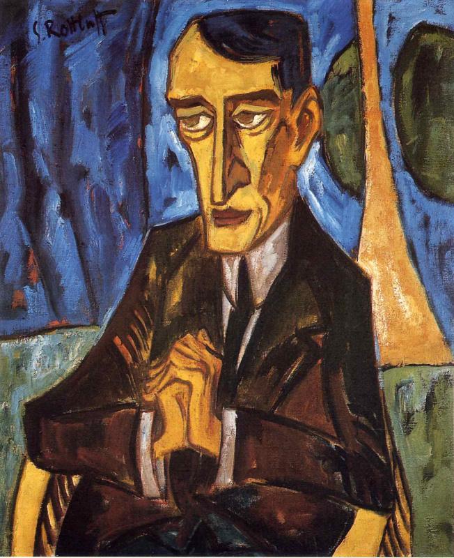 Карл Шмидт-Ротлуф. Мужской портрет