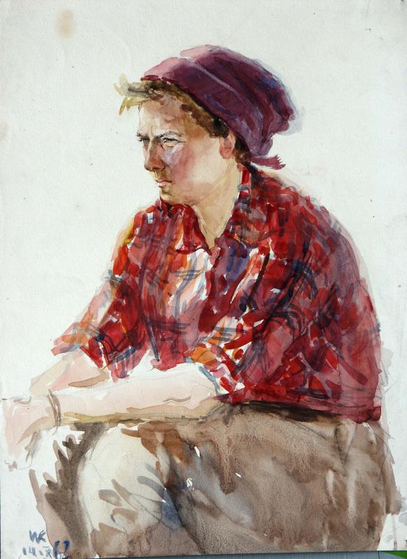 Иван Яковлевич Кузнецов. Портрет женщины