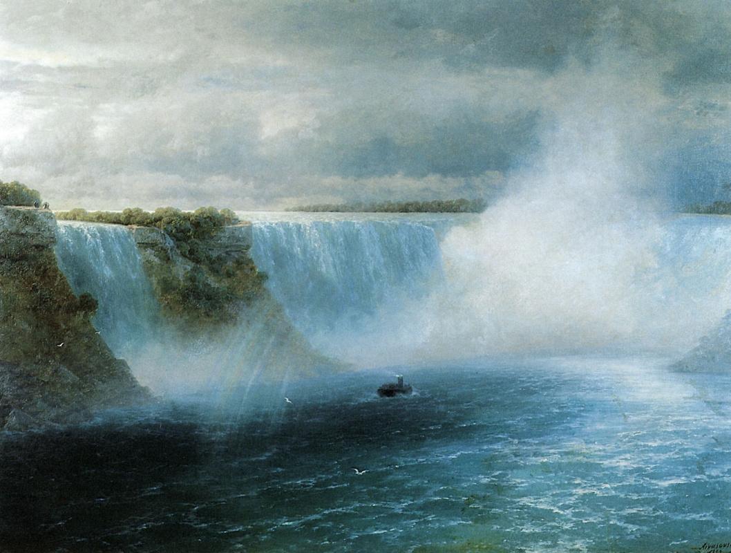 Иван Константинович Айвазовский. Ниагарский водопад