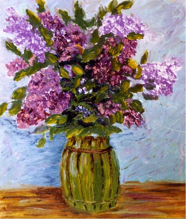 Rita Arkadievna Beckman. A bouquet of lilacs