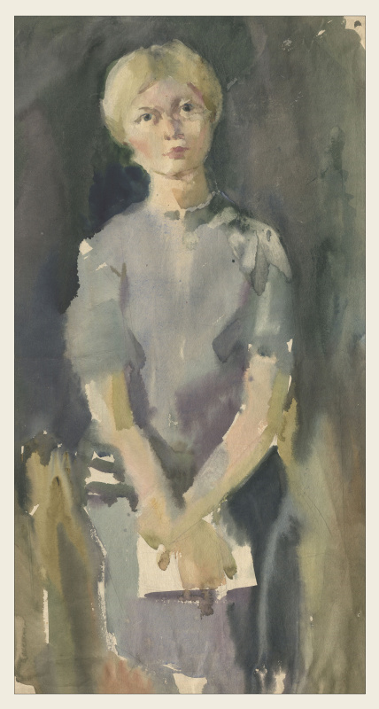 Alexandrovich Rudolf Pavlov. Girl in a gray sweater, 1970