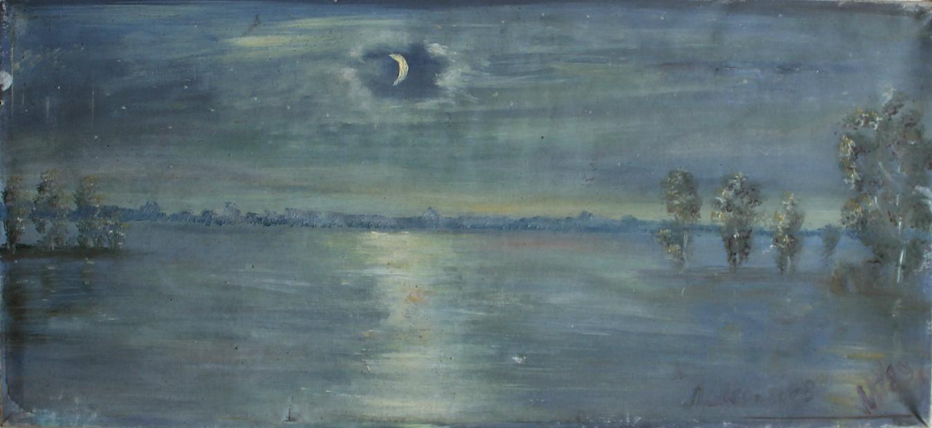 Leonid Pavlovich Leontiev. Night on the Gulf of Finland