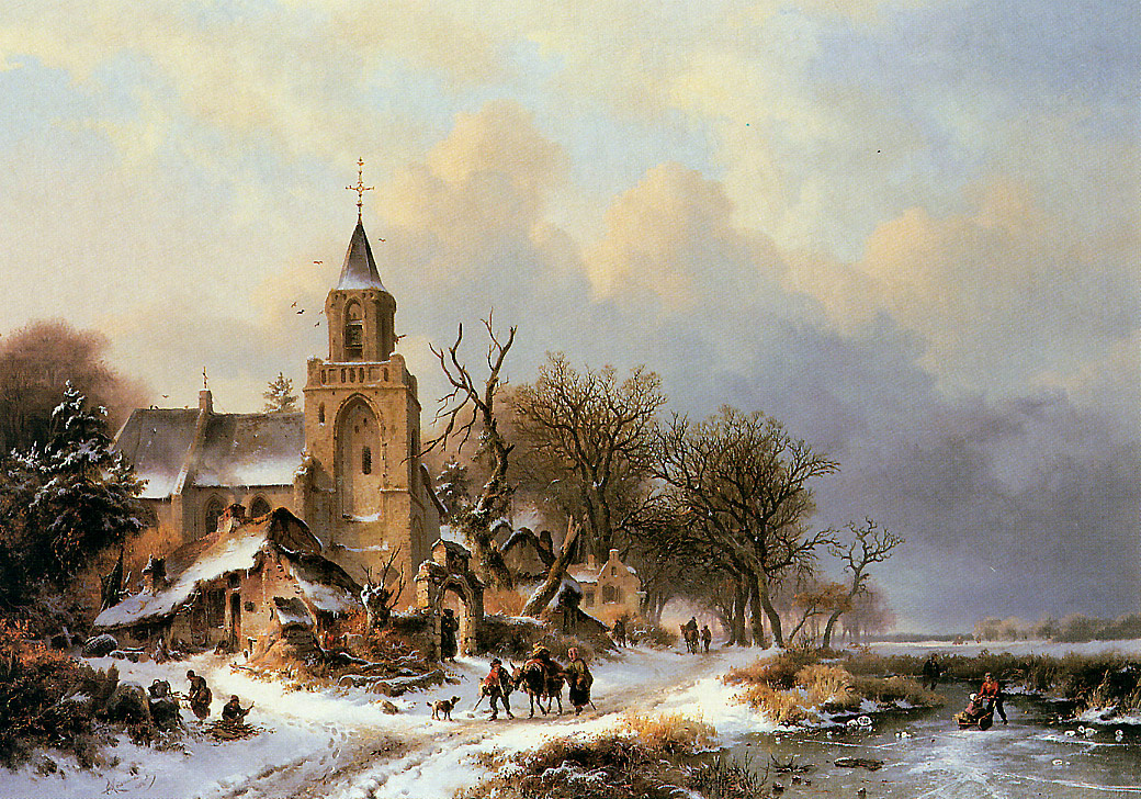 Фредерик Мариан Крусеман. Пейзаж зимнего дня