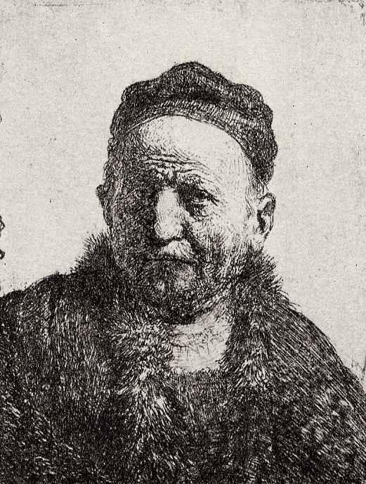 Рембрандт Ван Рейн. Голова мужчины в шапке