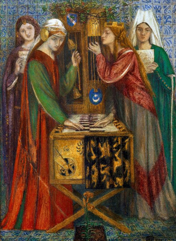 Данте Габриэль Россетти. Синий кабинет (Синий шкаф)