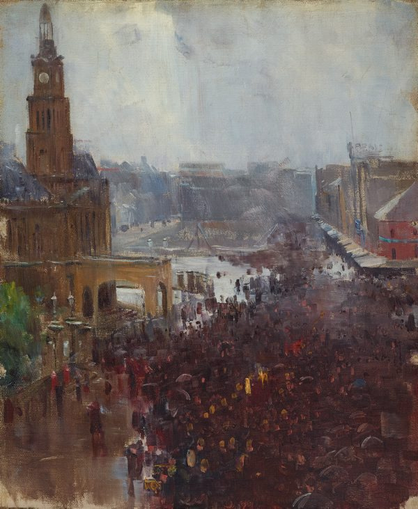 Arthur Ernest Streaton. Firefighter's Funeral, George Street