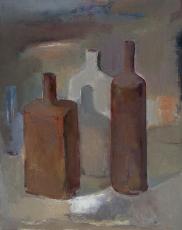 Азат Табиев. Натюрморт с бутылками ll
