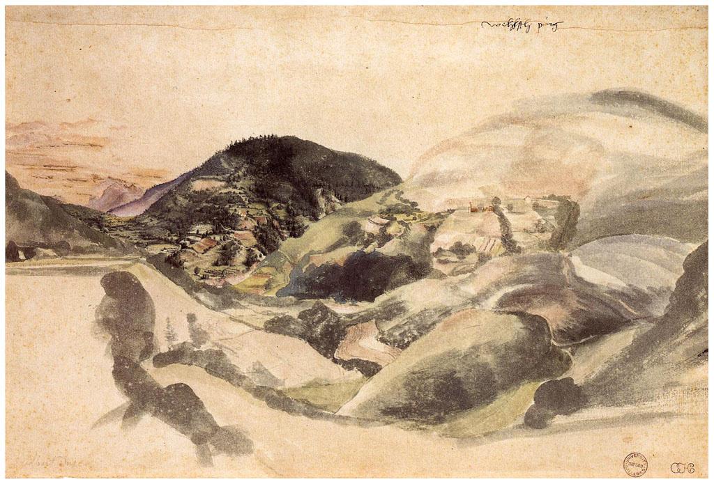 Albrecht Durer. Landscape near Segonzano in the valley Cembra
