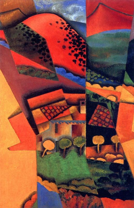 Хуан Грис. Пейзаж в Сере, закат