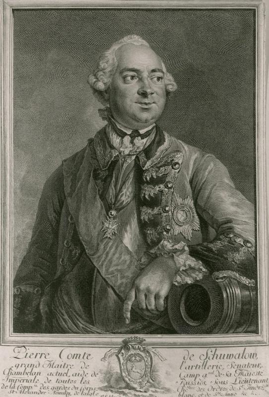 Georg Friedrich Schmidt. Portrait Of Piotr Shuvalov