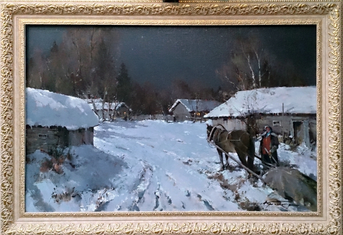 Alexander Markovich Kremer. Winter night