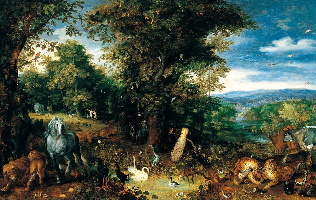Jan Bruegel The Elder. The Garden of Eden. 1610-1612