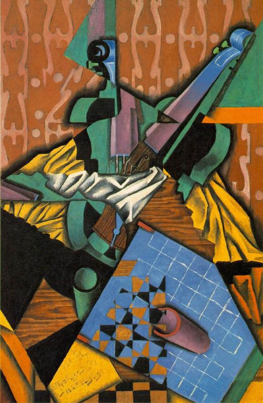 Хуан Грис. Скрипка и шахматная доска
