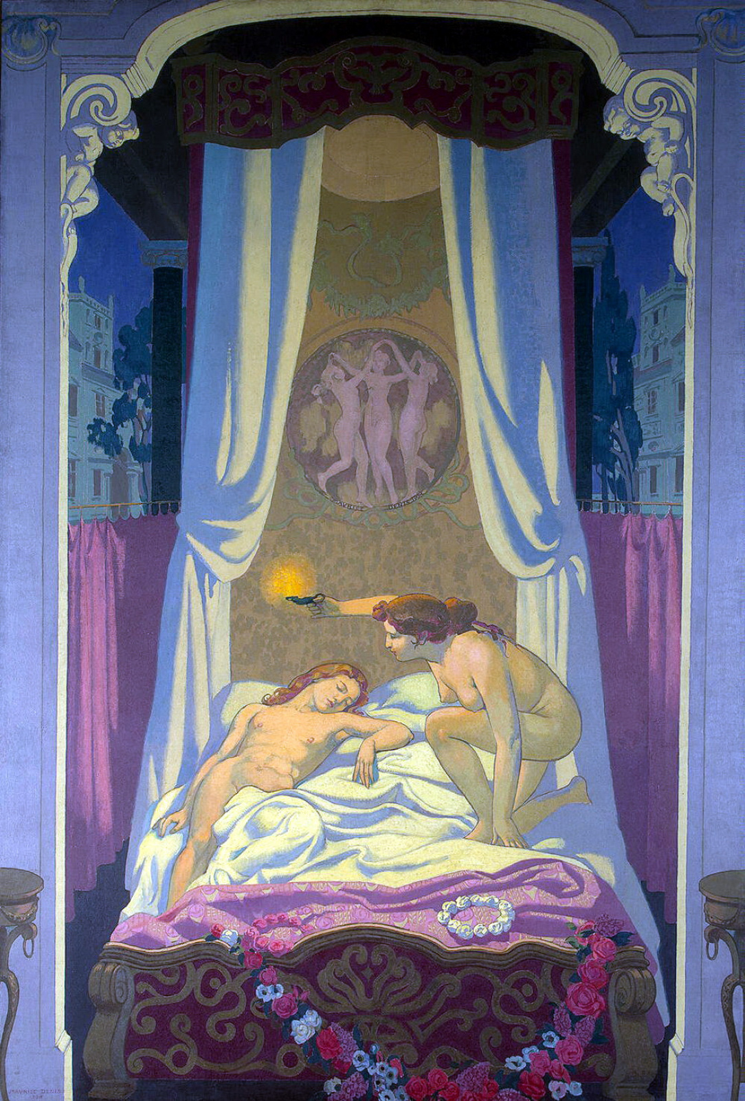Maurice Denis. Psyche discovers that her mysterious lover is Cupid