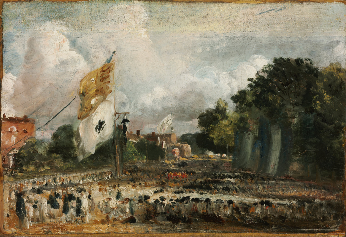 John Constable. The celebration in Eastern Bergholte peace of 1814 concluded in Paris between France and the allied powers