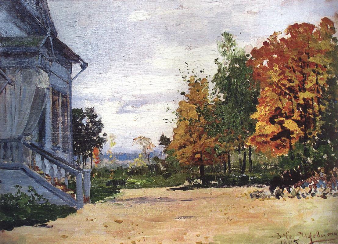 Isaac Levitan. Manor Babkino. House Kiselev