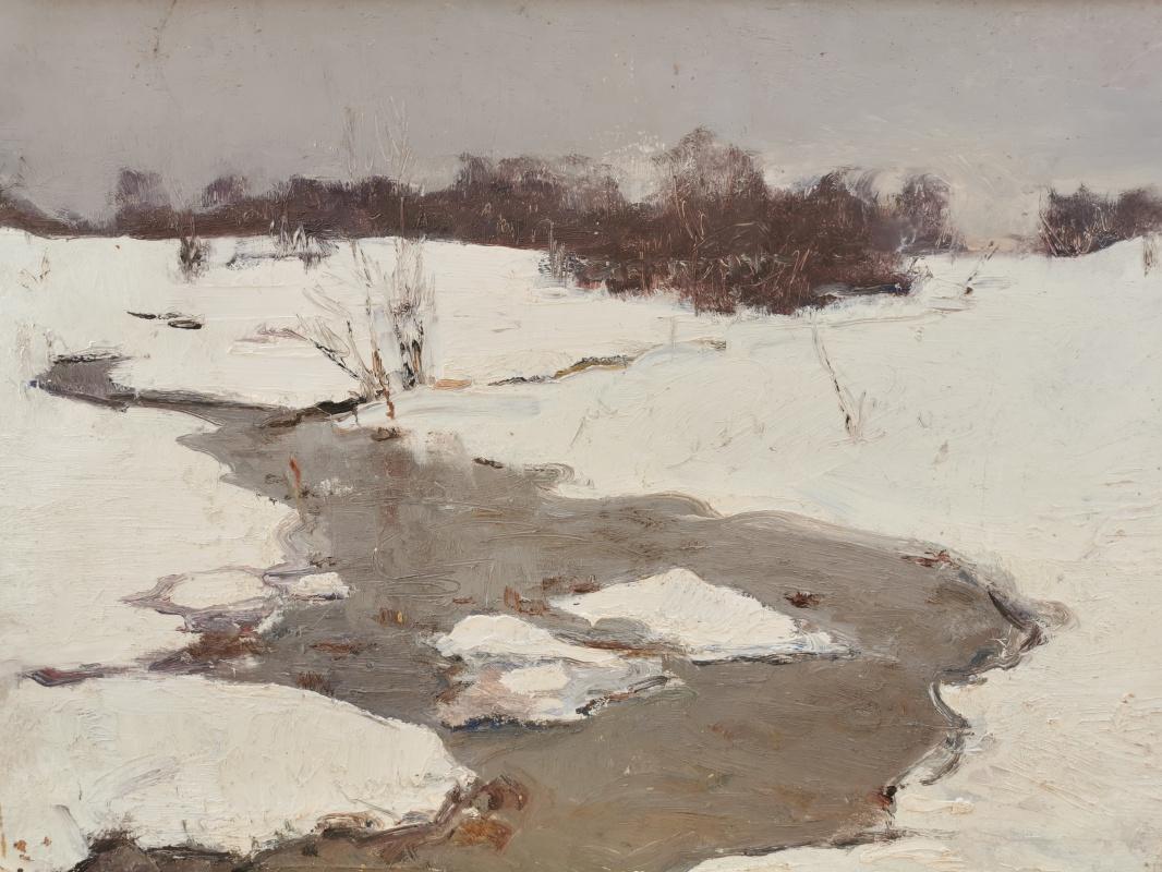 Konstantin Sergeevich Belokurov. Streams in the snow